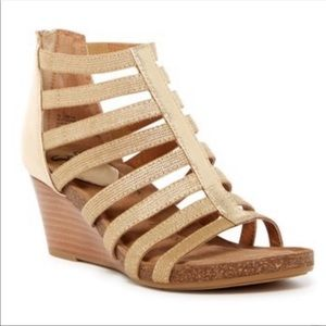 Sofft Mati Caged Gladiator Wedge Sandals 8.5